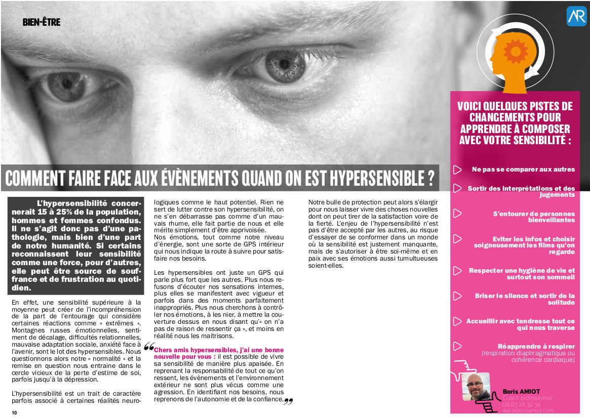 Article hypersensibilité - Boris Amiot - Hé Magazine